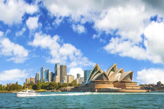 Cty skyline of Sydney, Australia
