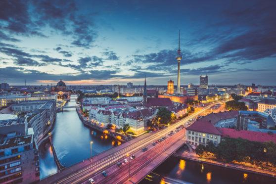 Berlin's skyline by night
