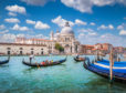 The Basilica  di Santa Maria makes a stunning backdrop to Venice's famous canals