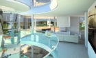 Stevie Malcolm is said to have paid £1.4m for the 50ft fish tank in his home
