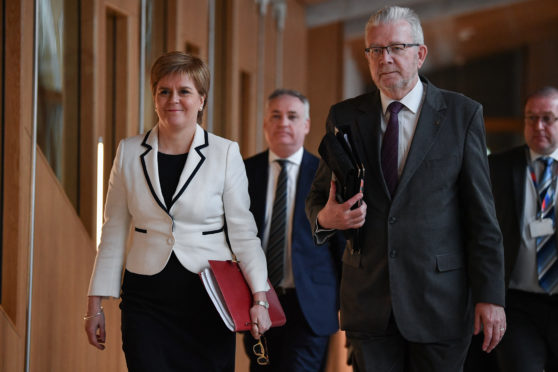 Mike Russell and First Minister Nicola Sturgeon