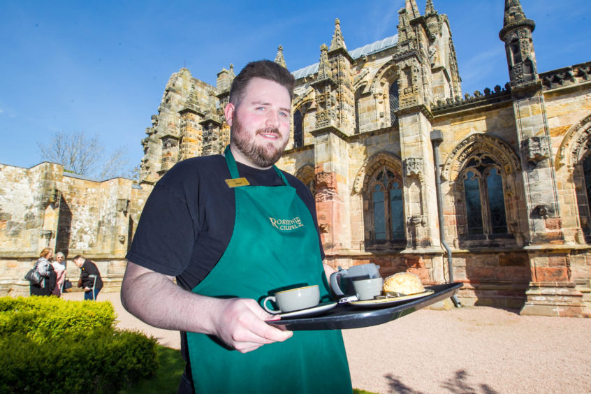 Stewart Goodfellow from Roslin who works in the cafe
