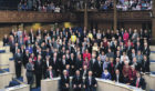 The 129 members of first Scottish Parliament in three centuries gathered in the General Assembly Hall of the Church of Scotland on May 12, 1999