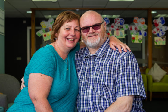 Danny, pictured with wife Catherine, is living with Vascular Dementia