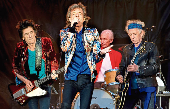 The Stones on stage last year
