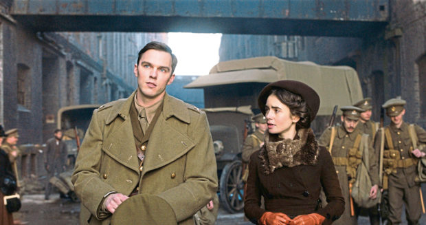 Nicholas Hoult and Lily Collins in Tolkein