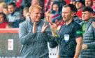 Celtic manager Neil Lennon celebrates the opening goal