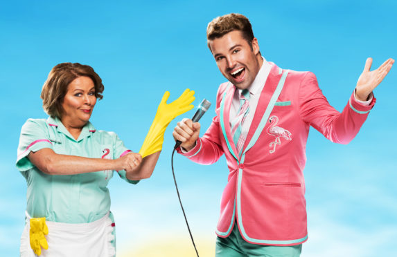 Kate alongside Joe McElderry in Club Tropicana