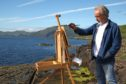 Alan Hayman paints near his gallery at Drimnin.