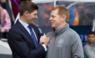 Steven Gerrard and Neil Lennon were all smiles last Sunday – then the Old Firm game kicked off!