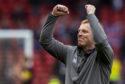 Celtic manager Neil Lennon celebrates