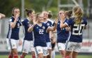 Scotland celebrate against Belarus during qualifying