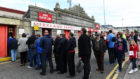 Aberdeen fans queue to get into Pittodrie, something that needs to continue around the country for the good of the game overall