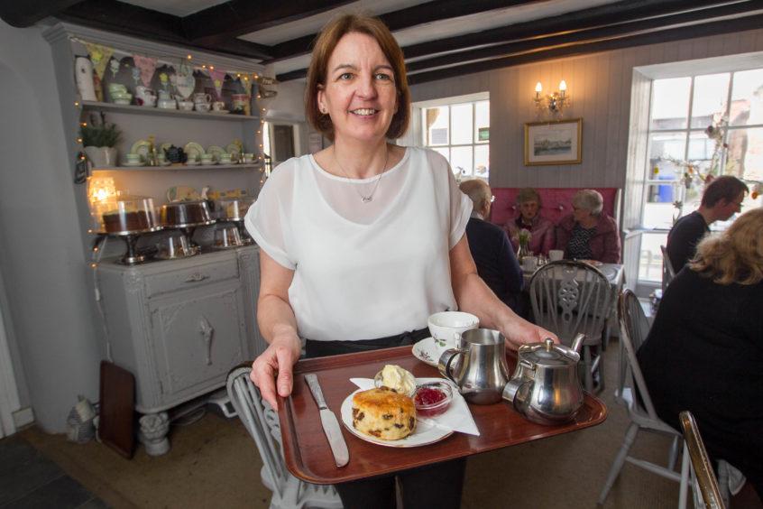 The tearoom's Lesley Long