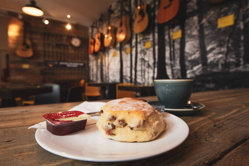 Acoustic Cafe's scone