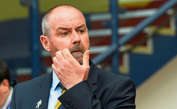 Scotland manager Steve Clarke watches his side's narrow win over Cyprus
