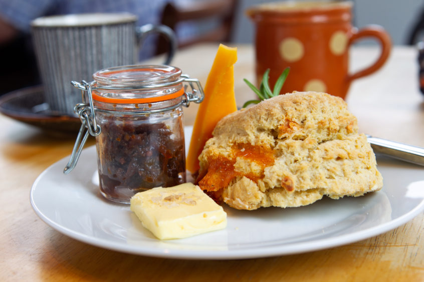 A perfect 10 - The Paper Boat's cheese scone