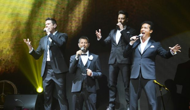 David Miller performs with Il Divo, one of the biggest crossover groups of all time
