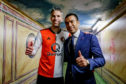 Giovanni van Bronckhorst with Robin van Persie. They both left Feyenoord at the end of the Dutch season