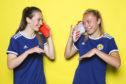 Chloe Arthur and Claire Emslie of Scotland