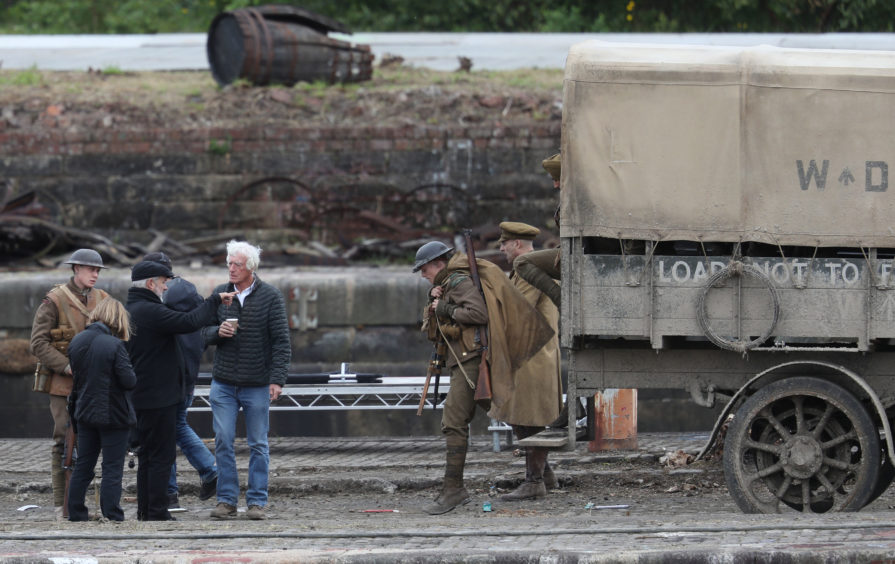In pictures: Big name stars arrive in Govan for filming on Steven Spielberg and Sam Mendes blockbuster 1917 - Sunday Post