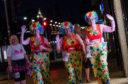 MoonWalkers making their way down Princes Street