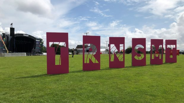 The TRNSMT site at Glasgow Green