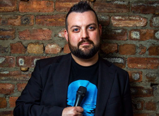 Comedian Colin Higgins, who blew the whistle on paedophiles Charles O'Neill and William Lauchlan