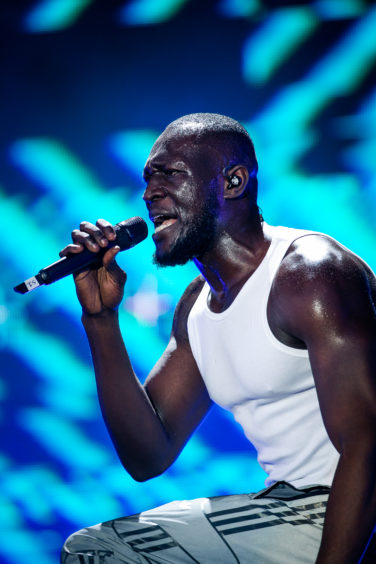 Stormzy on stage at TRNSMT