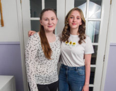 Friends Jody Carr  Maya Hemphill( sunflower top) have both got scholarships to go to universities in China, despite going to one of the worst schools in Glasgow.