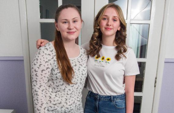 Friends Jody Carr (left) and Maya Hemphill