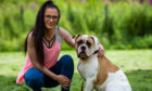 Pics of Marley the dog (with owner Kerry Anne Shaw), who was bitten by an adder