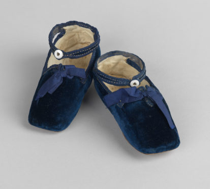 The first shoes worn by Prince Albert Edward (later King Edward VII), which will go on display as part of the Buckingham Palace summer exhibition which opens in July.