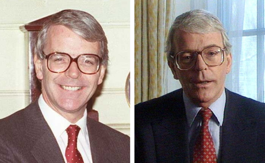John Major. L: At a meeting with Ronald Reagan a week after becoming Prime Minister R: During an election broadcast for the 1997 General Election.
