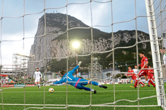 Rangers will face St Joseph's in the Victoria Stadium, in the shadow of the Rock of Gibraltar
