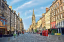 View down the historic Royal Mile, Edinburgh, Scotland