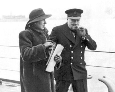 Mrs Kathleen Hill and Winston Churchill, 1941