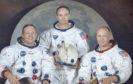 The Apollo 11 crew - Neil Armstrong, Michael Collins and Buzz Aldrin