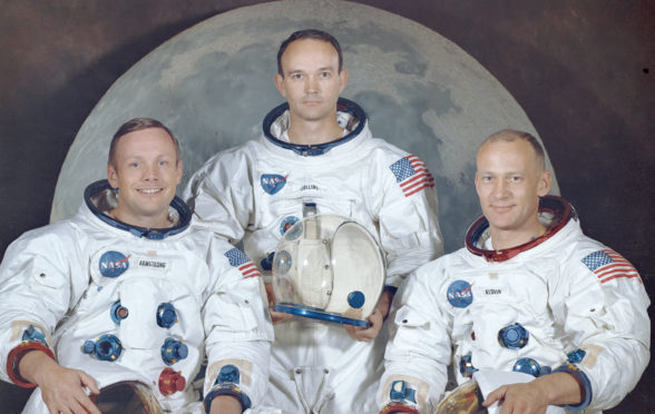 The Apollo 11 crew - Neil Armstrong, Michael Collins and Buzz Aldrin