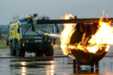 Regular fire crews train at Glasgow airport