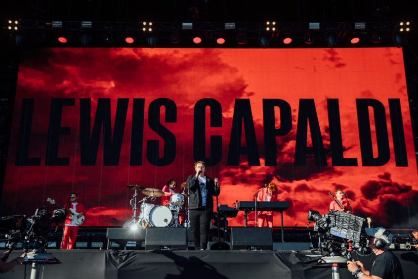 Lewis Capaldi on stage