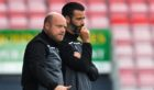 Ross County co-managers Stuart Kettlewell and Steven Ferguson (L)