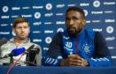 Jermain Defoe and Steven Gerrard speak to the press ahead of Thursday night's Europa League qualifier