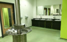 Blue water in the school toilets prompted health fears