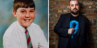 Colin Higgins left as a child and right, today.