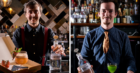 Jack Docherty (l) and Declan Coffey (r) with their winning cocktails. The men will compete in international competitions in New York next week.