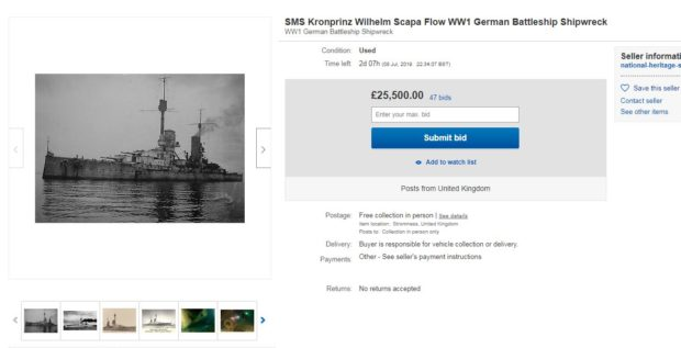 One of the ships listed on eBay