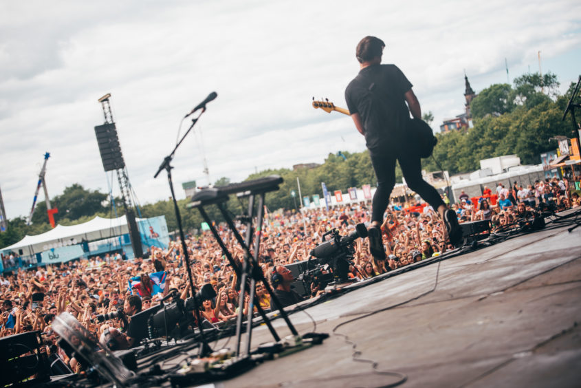 The Wombats on the main stage