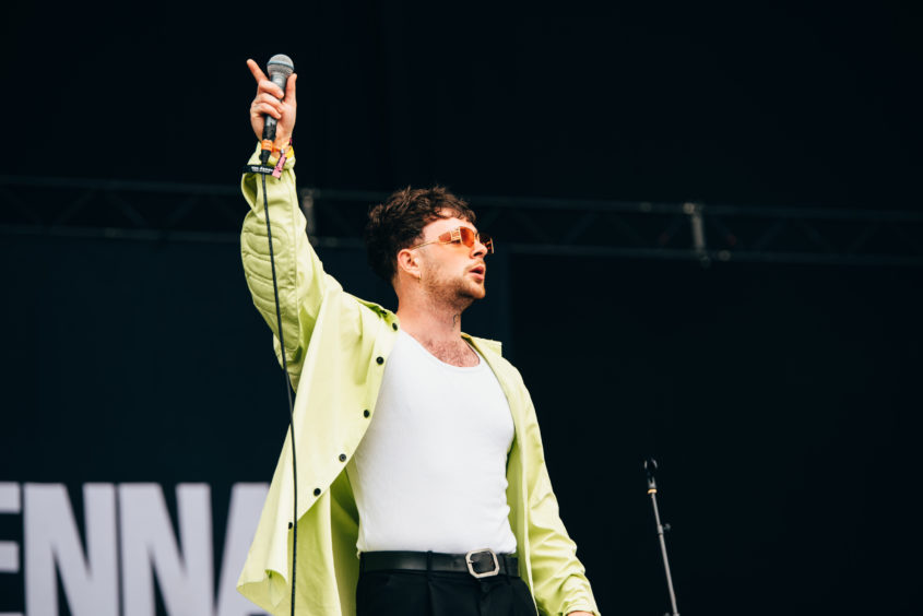 Tom Grennan on the main stage