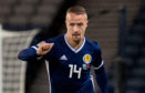 Leigh Griffiths in action for Scotland